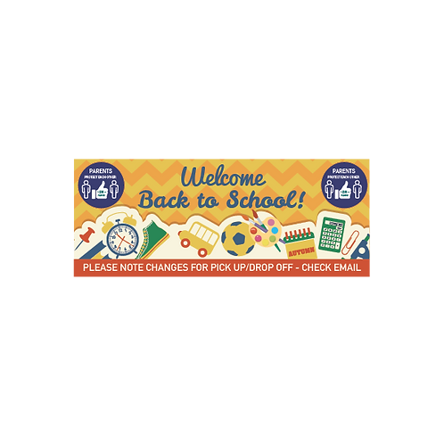 Social Distancing Welcome Back to School Banner - Variety of Siz