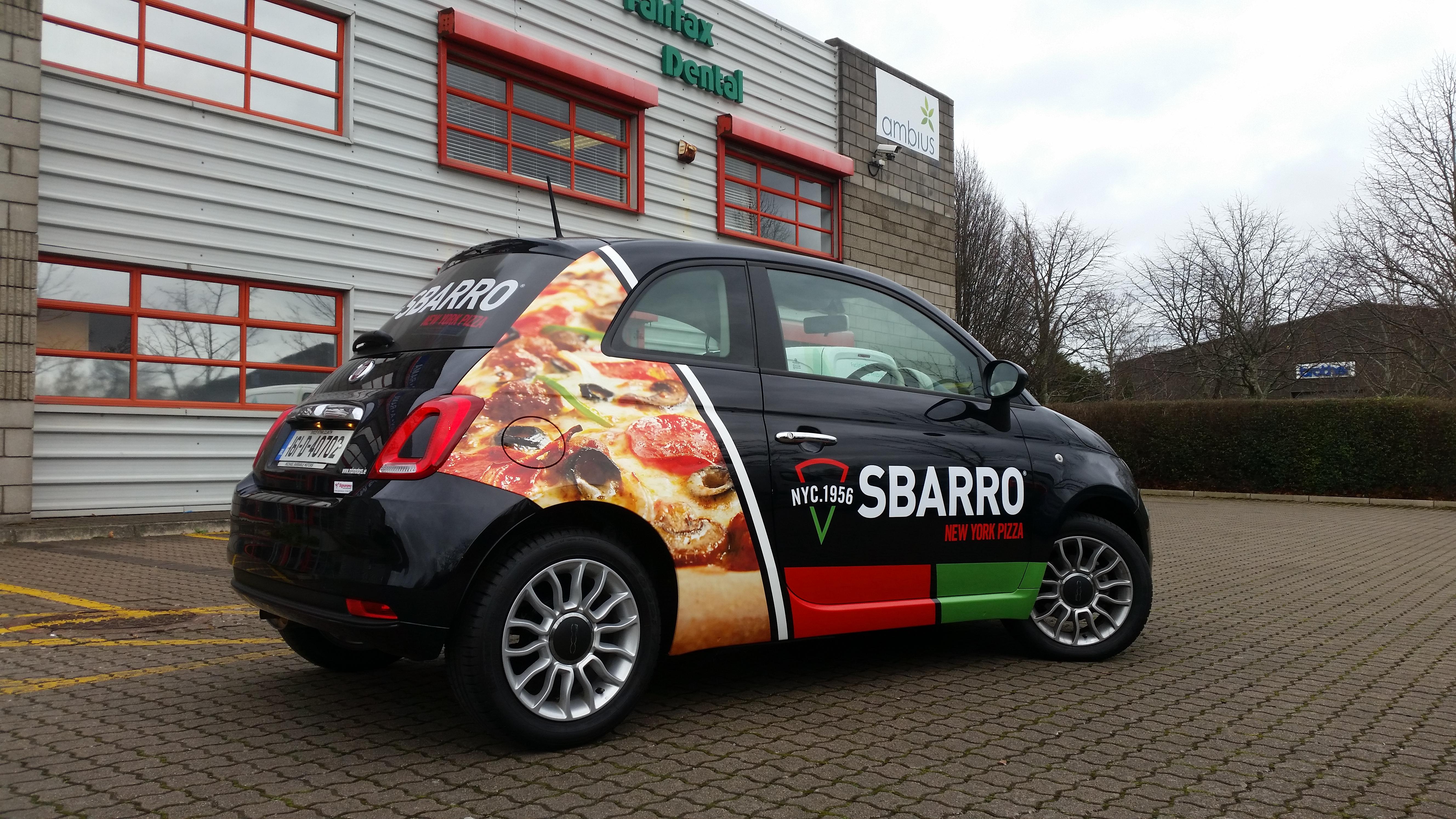 SBARRO Fleet Vehicle Graphics