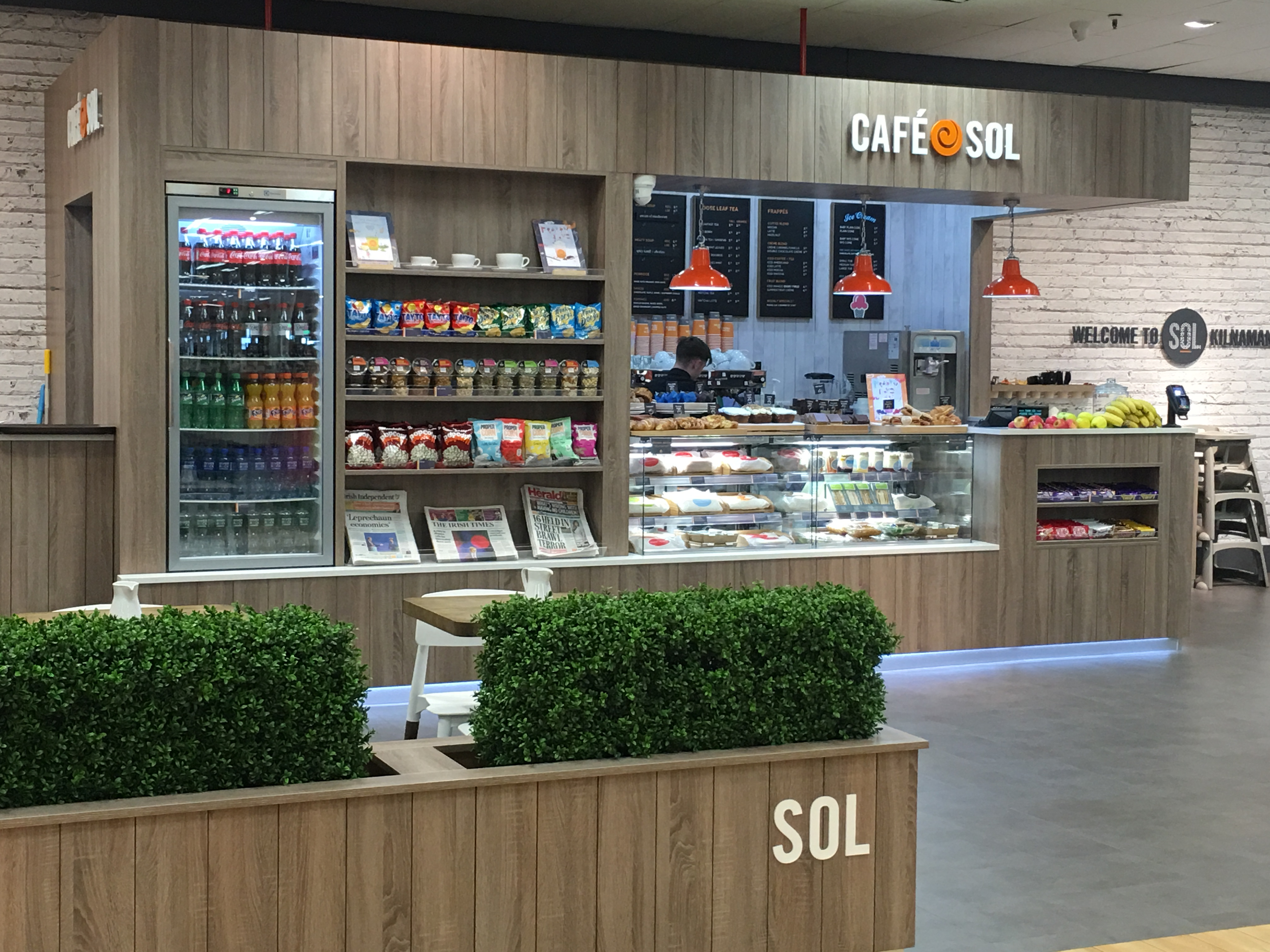 Sol Coffee Shop Front Signage Foam