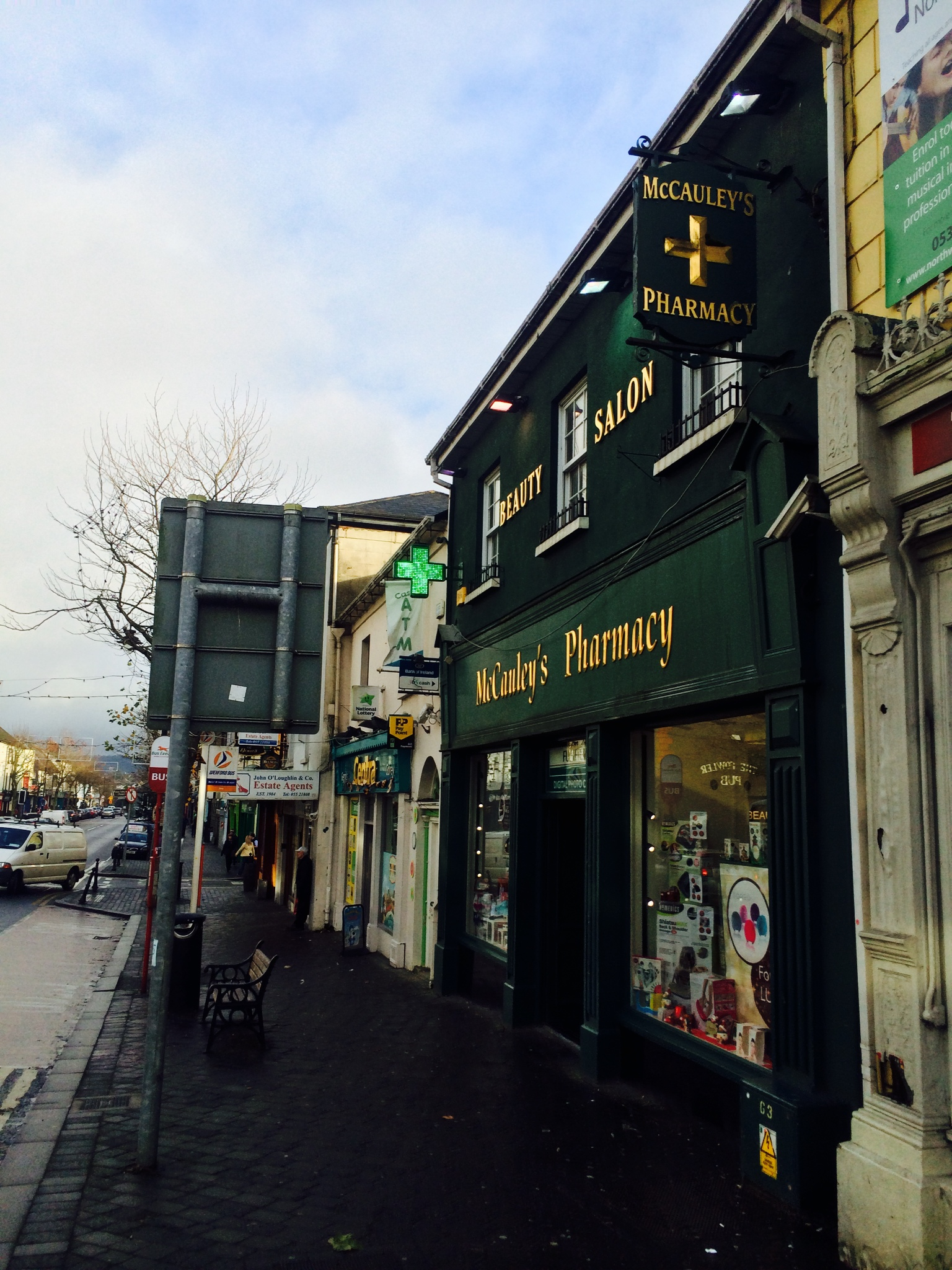 Murrays Pharmacy Gold Lettering