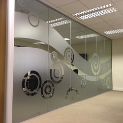Frosted Vinyl Office Interior Graphics in Creative Style