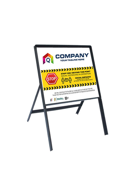 Outdoor Road Side Sign Frame + Corriboard 700mm x 700mm