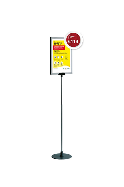 Covid-19 Free Standing Indoor Poster Unit Signage Stand