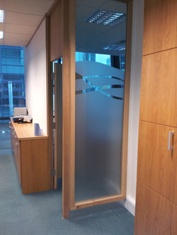 Frosted Window Graphics office