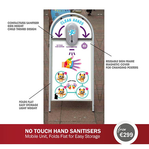 CONTACTLESS HAND SANITISER DISPENSER - FREE STANDING