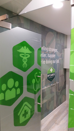 Frosted Window Graphics Pharmacy