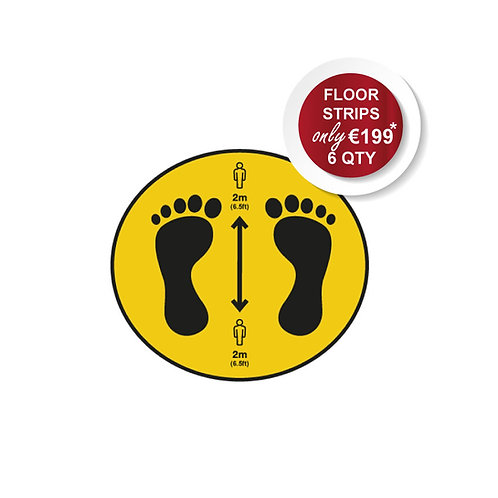 Social Distancing Outdoor Stickers, Circle, Anti Slip - 400mm Wide