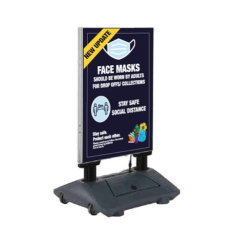 Schools Outdoor Mobile Pavement Sign + 2 x A1Posters