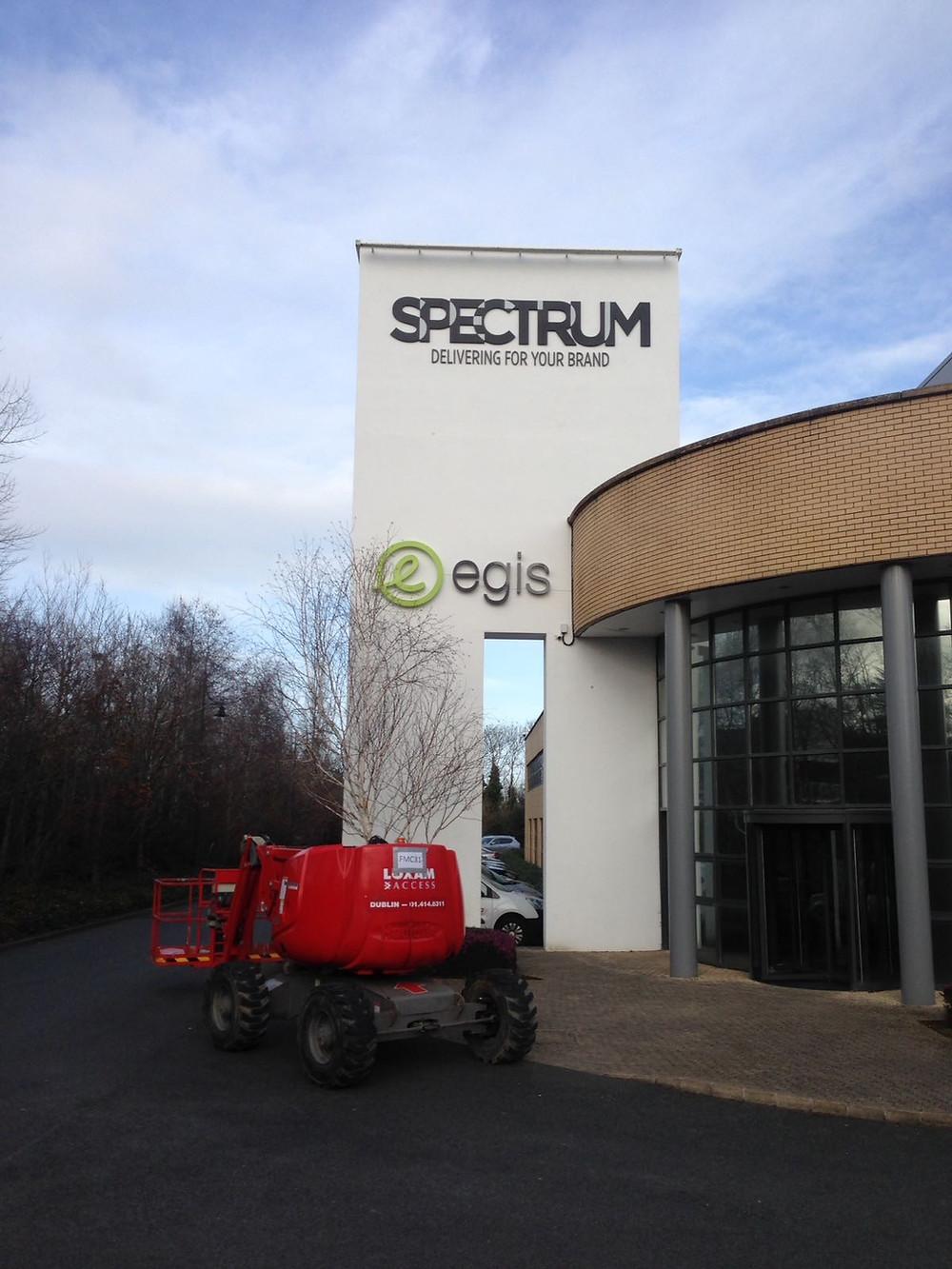 Industrial high spec large metal light up lettering