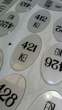 Room Numbers Directing Signage
