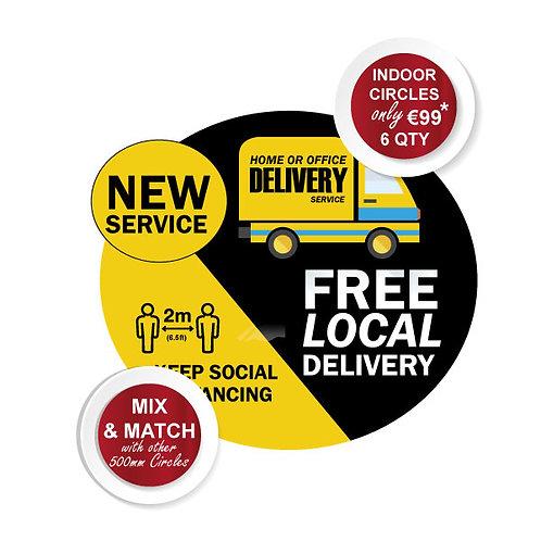 Social Distancing Indoor Floor Stickers, FREE DELIVERY 500mm Wi
