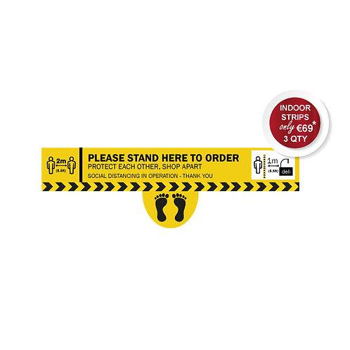Social Distancing Indoor Floor Stickers, Order Here Line with Feet, Anti Slip