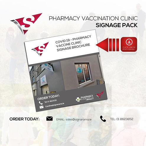 Pharmacy Signage Vaccine Clinic Signage.