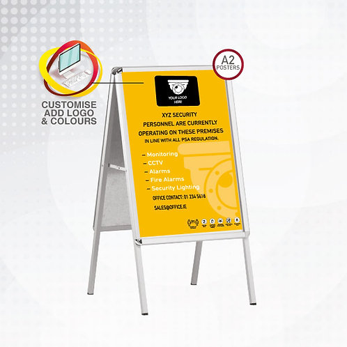 Security Company Pavement Sign + 2 A2 Outdoor Posters