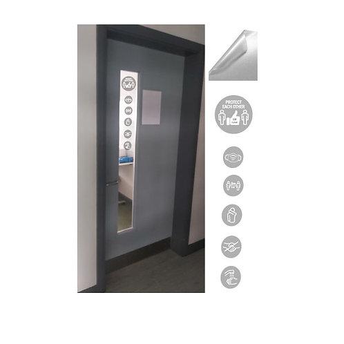 School Social Distancing -  Door/Glass  Icons Only