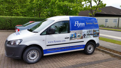 Vehicle Partial Wrap with Printed Cast Vinyl Graphics