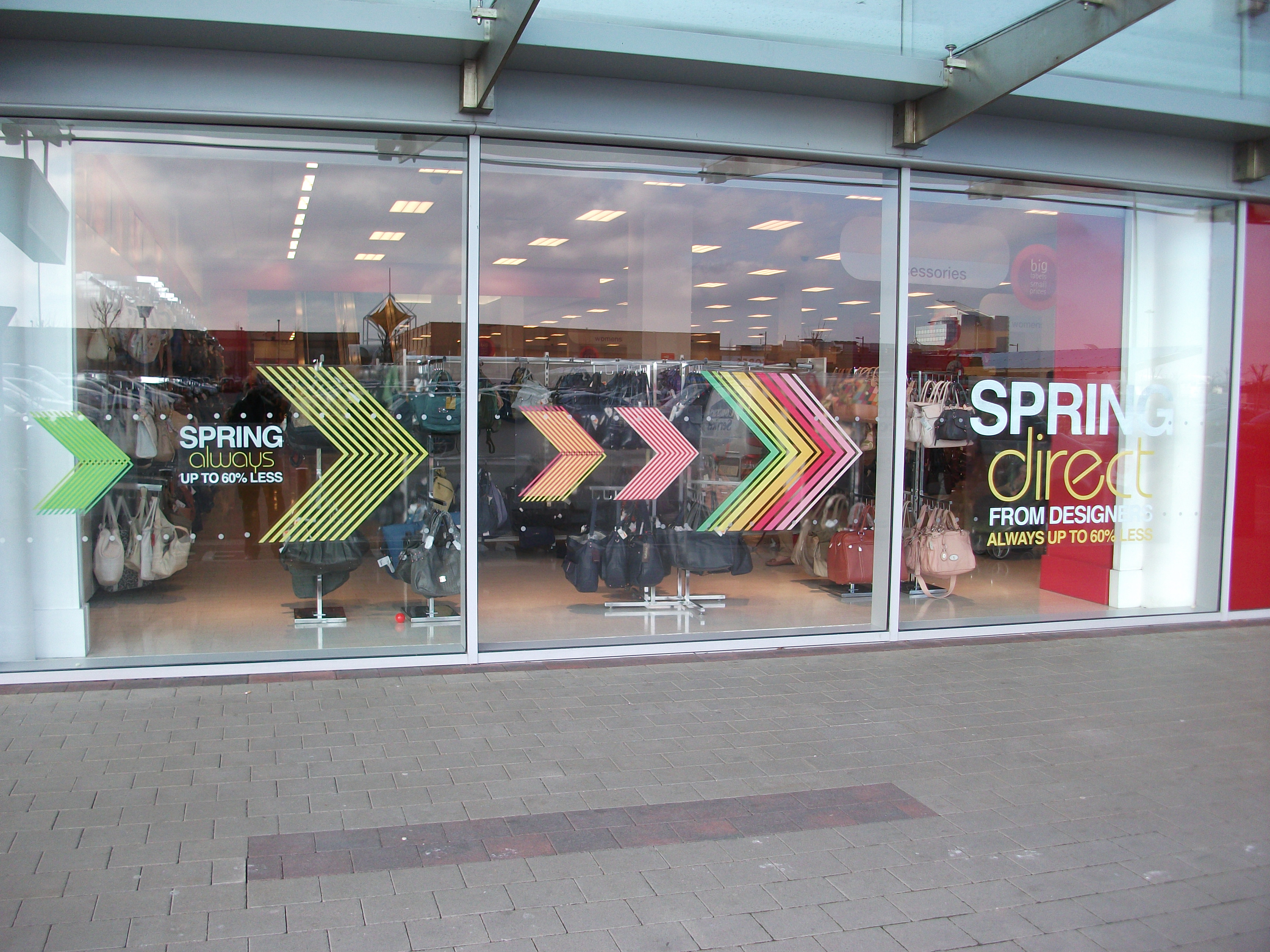 TK Maxx Vibrant Static Cling Window Graphics_ Blanchardstown