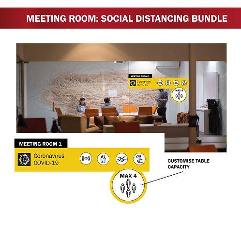 Social Distancing - Meeting Room Bundle -  7 Piece Set