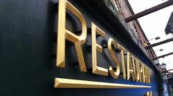 Shop Front GOLD LETTERING Restaurant