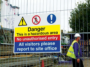 Safety Signage on site fence