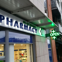 Pharmacy Sign_signage_pharmacy cross sign_shop front sign