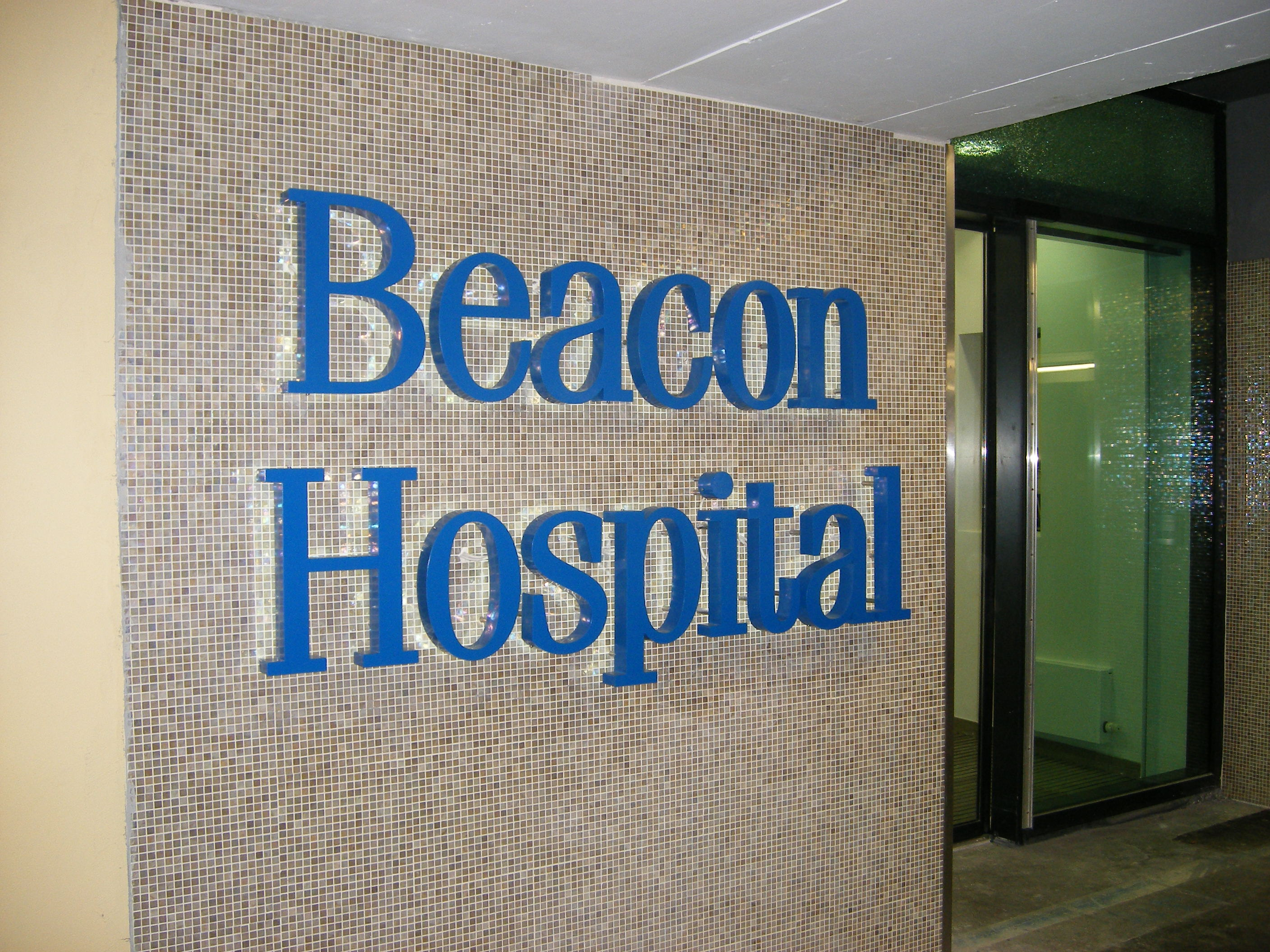 LED Internally Illuminated Individual Aluminium Lettering for Beacon Hospital