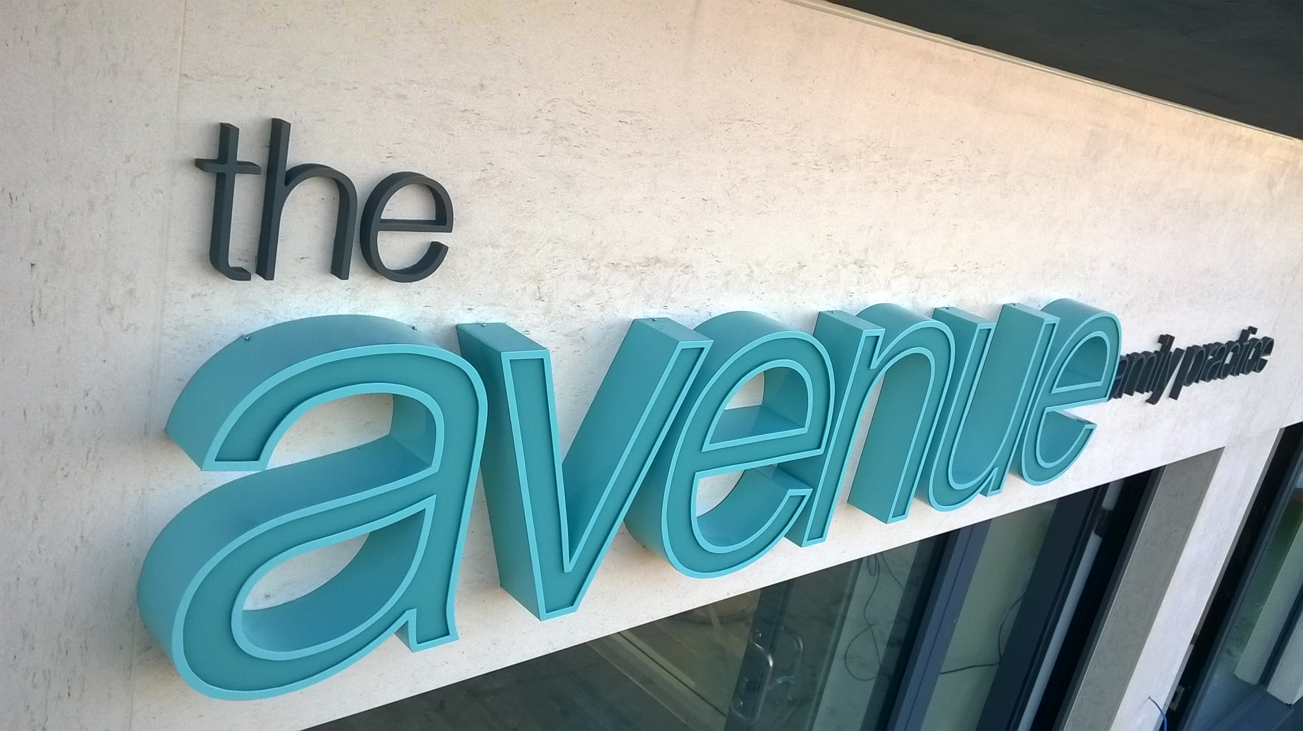 The Avenue 3d Illuminated Lettering