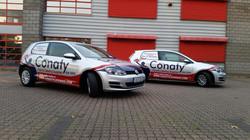 Conaty Catering fleet range half Car Wrap