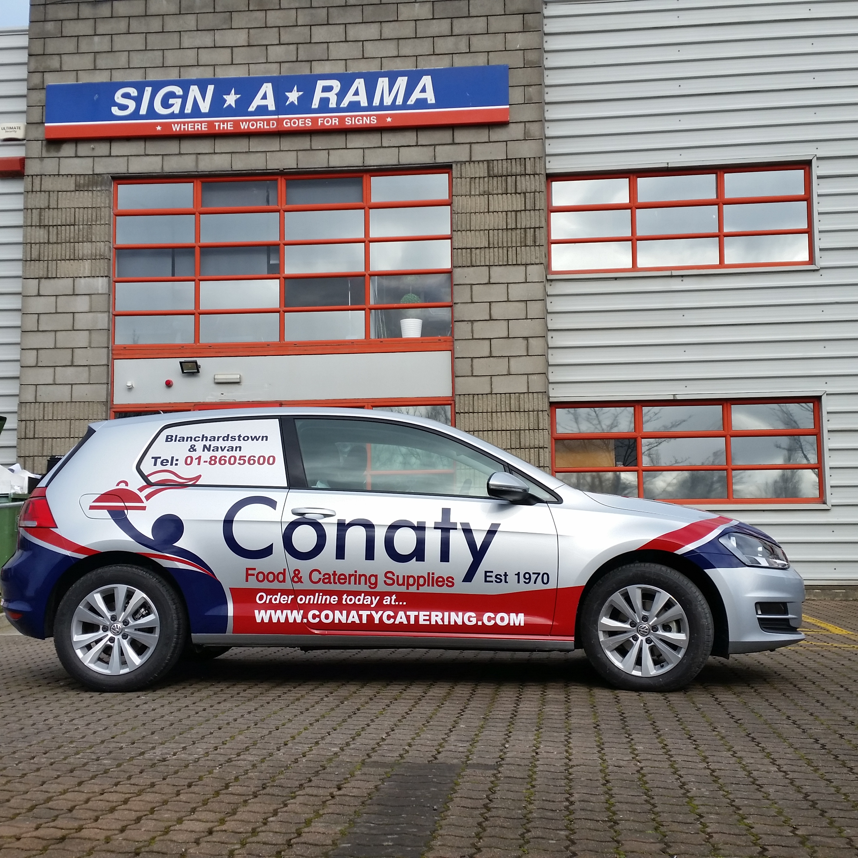 New Car Wrap for conaty Catering