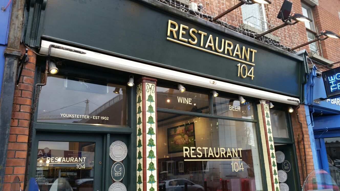 Shop Front GOLD LETTERING Restaurant