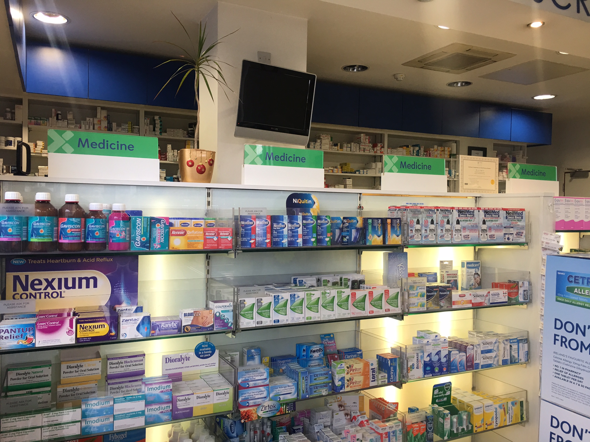 Low Level Wall Unit Signs_Category Signs_Pharmacy Signs
