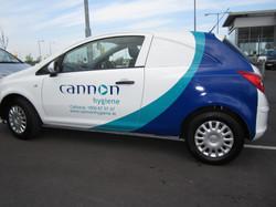 Half Wrap on fleet car for Cannon