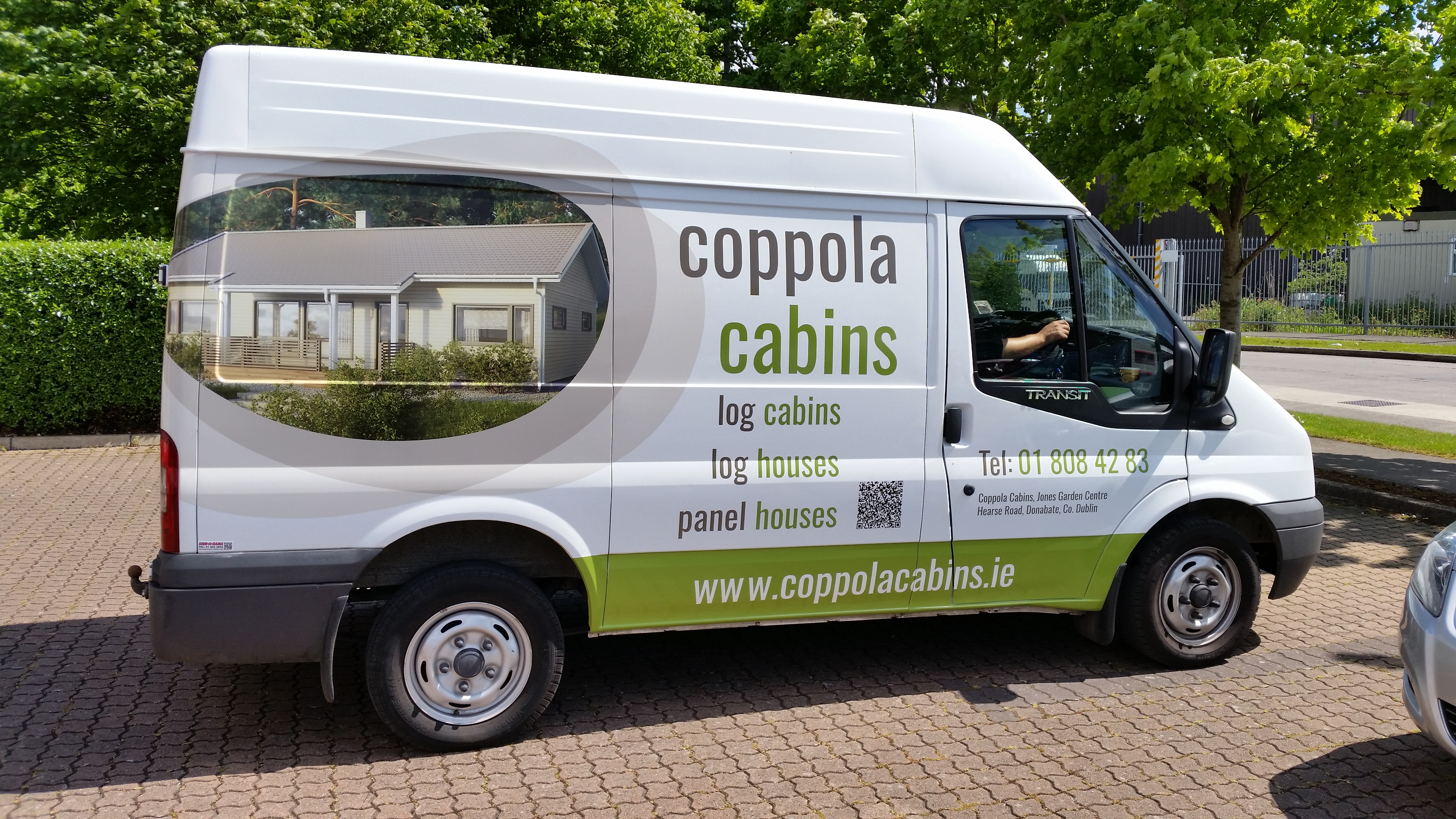 Vehicle Branded with Creatively Designed Printed Graphics Includes Colour Image