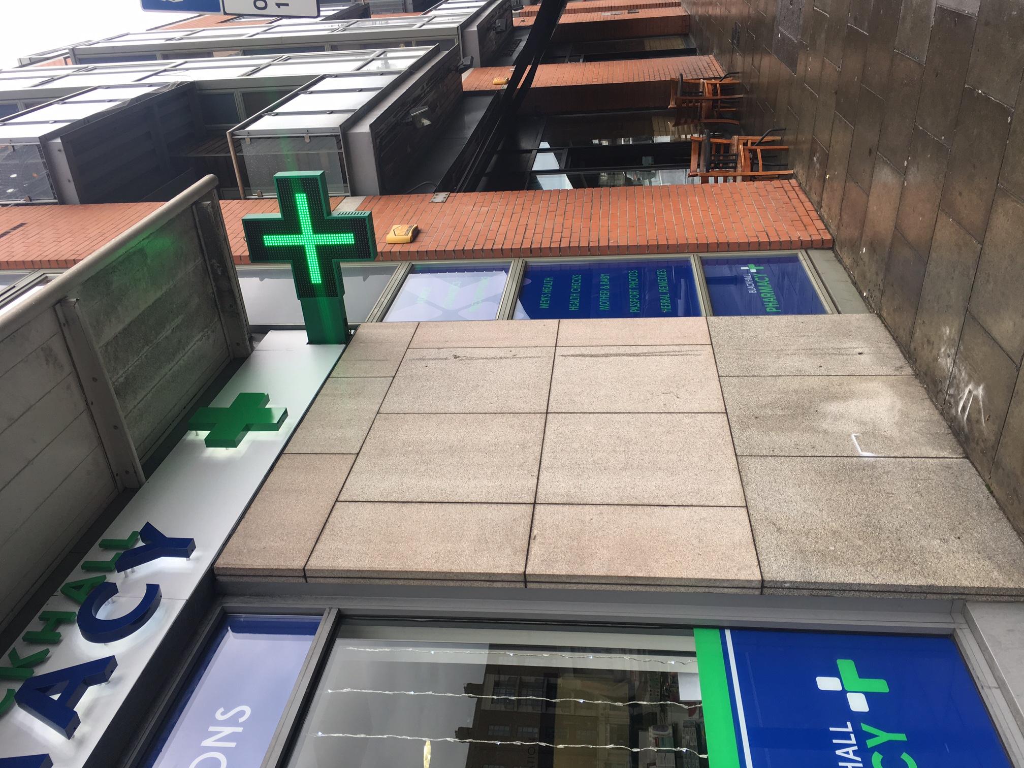 Outside Pharmacy Signage Ireland