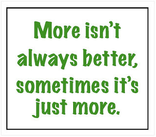 More is not better! shift your mindset away from the quantity game