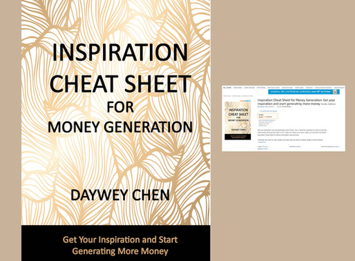 Inspiration Cheat Sheet for Money Generation is now available on Amazon Bookstore!