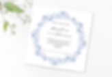 BlueLeaf Circle, square invitation