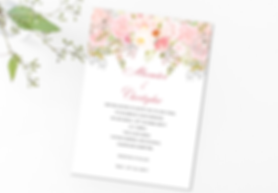 Blush Flowers invitation