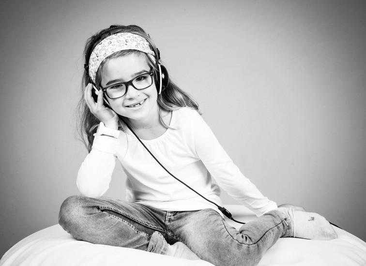 Mädchen mit Musik