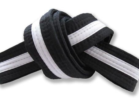 Preschool 8th Grading Black Belt White Tag