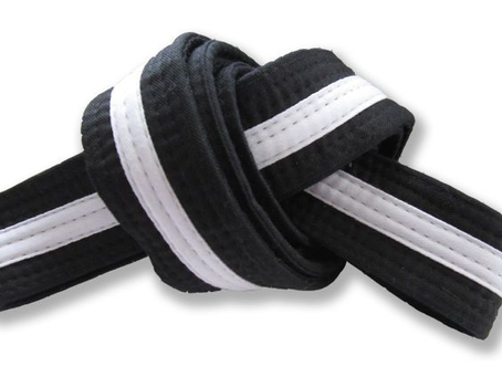 Preschool 8th Grading Black Belt White Tag