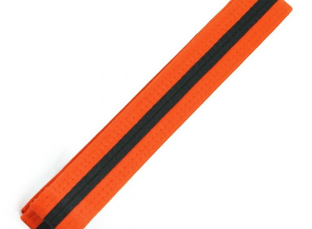 Preschool 3rd Grading Orange Belt Black Tag