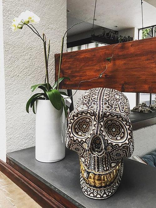 24K Gold Teeth Skull + Paricuta - SOLD -