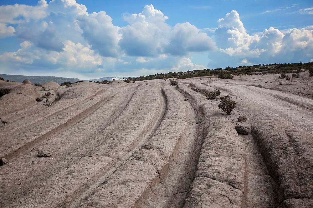 Fossilised tracks in Turkey could be evidence of cart ruts in antiquity