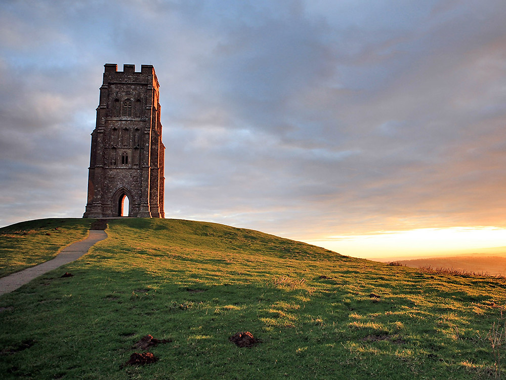 Glastonbury Tor in Wiltshire, England