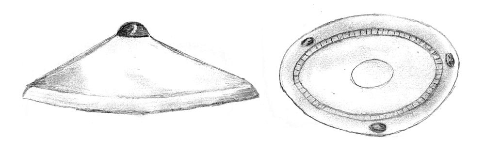 Witness Victor Zakruzny's sketch of the UFO