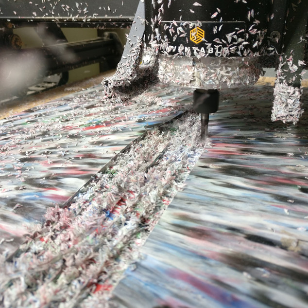 CNC Milling 20mm HDPE Sheets