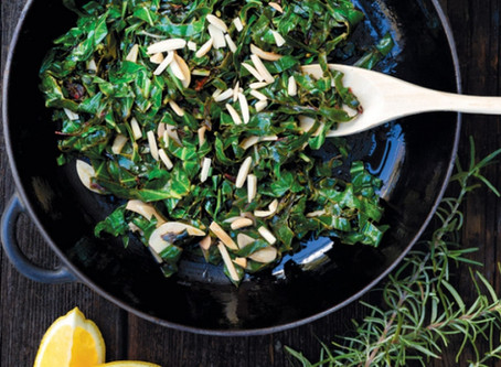 Collards and Swiss Chard with Lemon