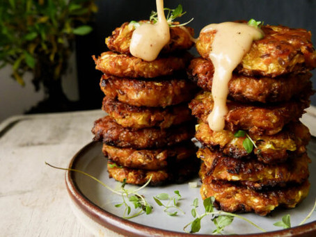 Cabbage & Carrot Fritters