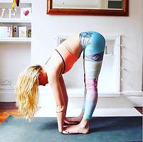 yoga pose, forward fold, lengthen the spine, yoga teacher, yoga teacher london